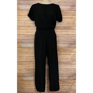 Splendid Short Sleeve Jumpsuit Black